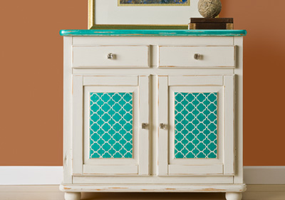 Stenciled Designer Chest