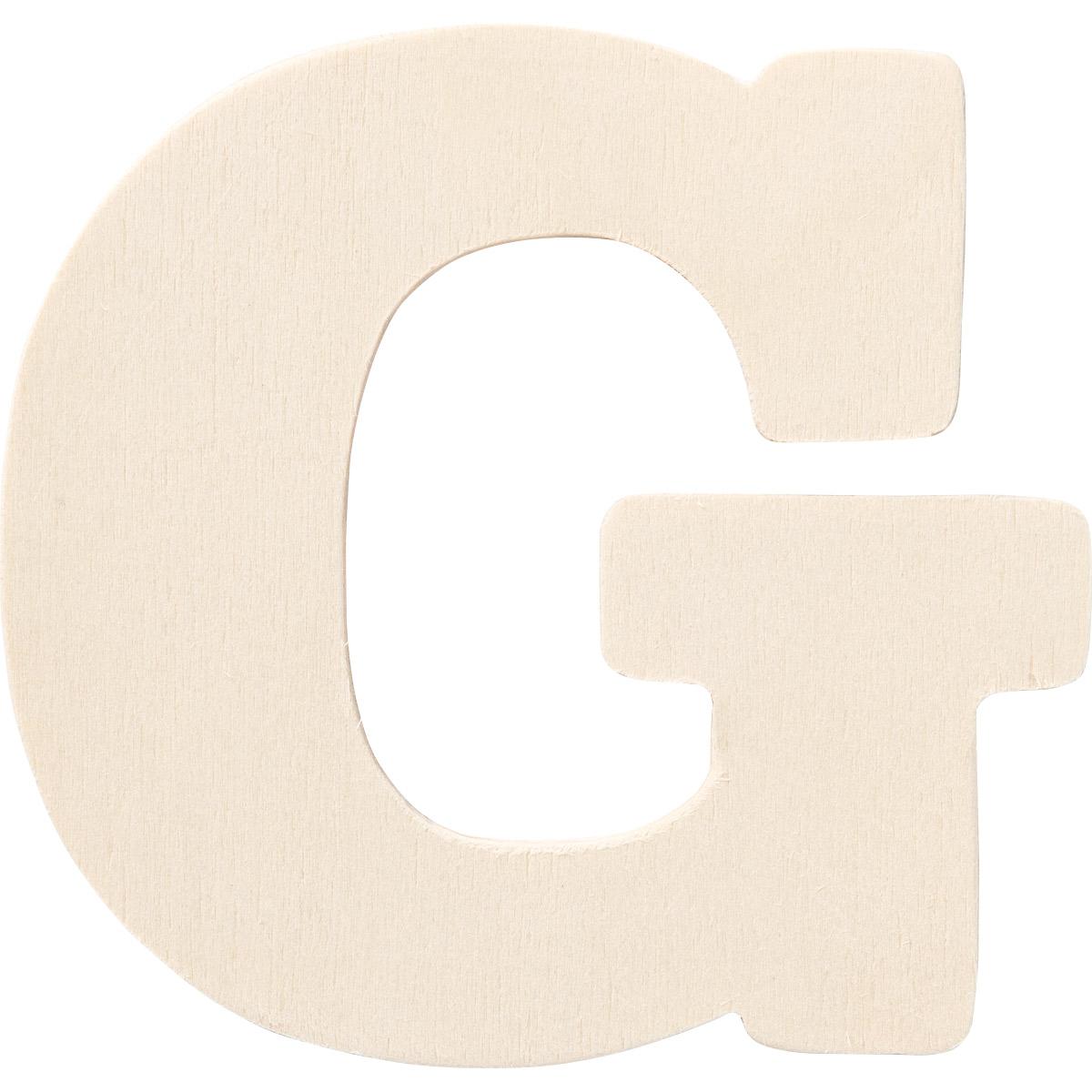 Plaid ® Painter's Palette™ Wood Letter - G. 4 inch