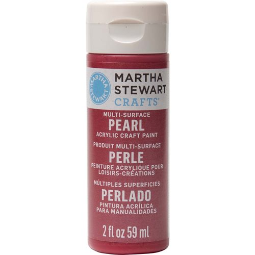 Martha Stewart ® Multi-Surface Pearl Acrylic Craft Paint - Holly Berry, 2 oz. - 32113CA
