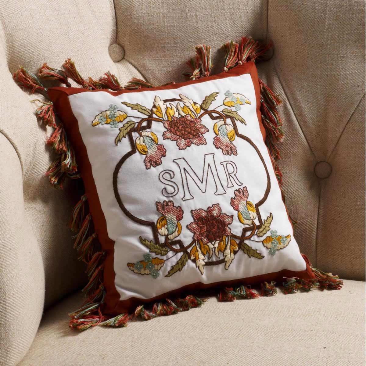 Bucilla Waverly Charleston Chirp Collection Stamped Pillow