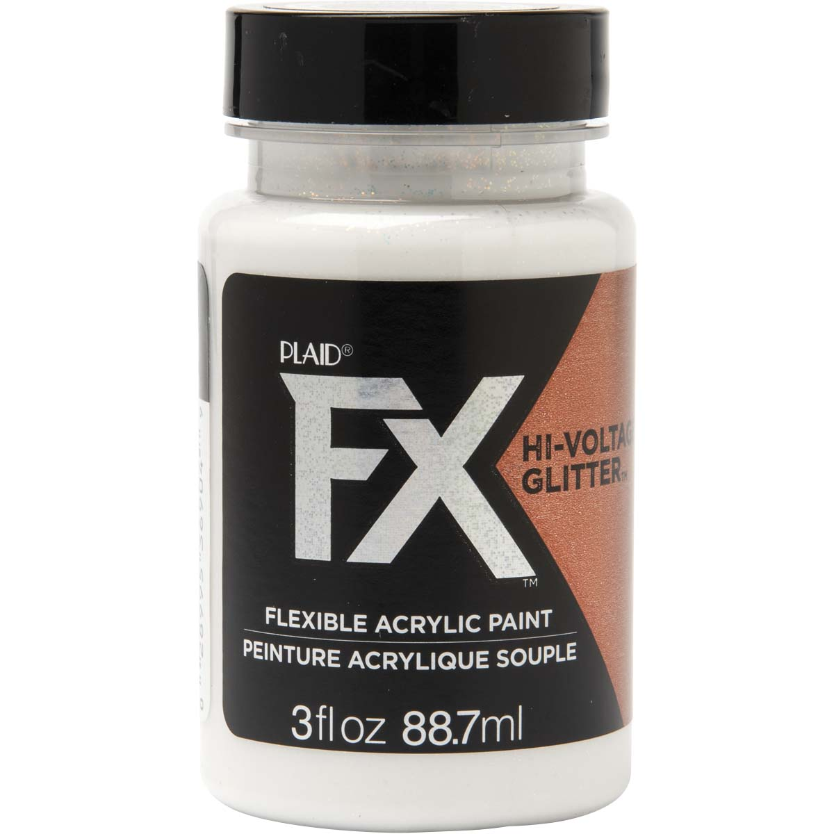 PlaidFX Hi-Voltage Glitter Flexible Acrylic Paint - Bronze Shift, 3 oz. - 36904