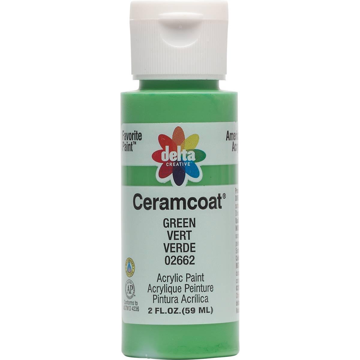 Delta Ceramcoat ® Acrylic Paint - Green, 2 oz. - 026620202W