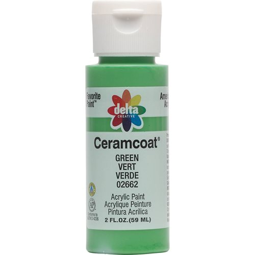 Delta Ceramcoat ® Acrylic Paint - Green, 2 oz.