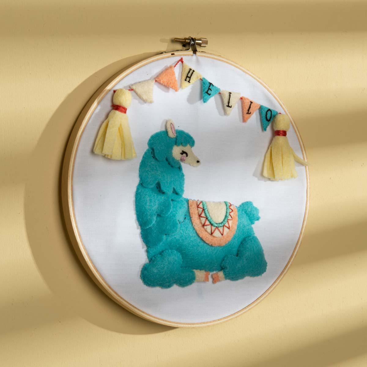 Bucilla ® Baby - Felt - Crib Ensembles - Llama Baby - Wall Hanging - 49209E