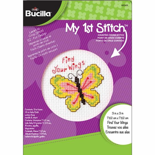 Bucilla ® My 1st Stitch™ - Counted Cross Stitch Kits - Mini - Find Your Wings