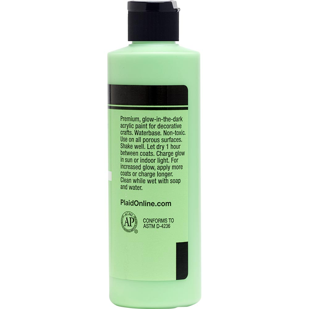FolkArt ® Glow-in-the-Dark Acrylic Colors - Green, 8 oz. - 323E