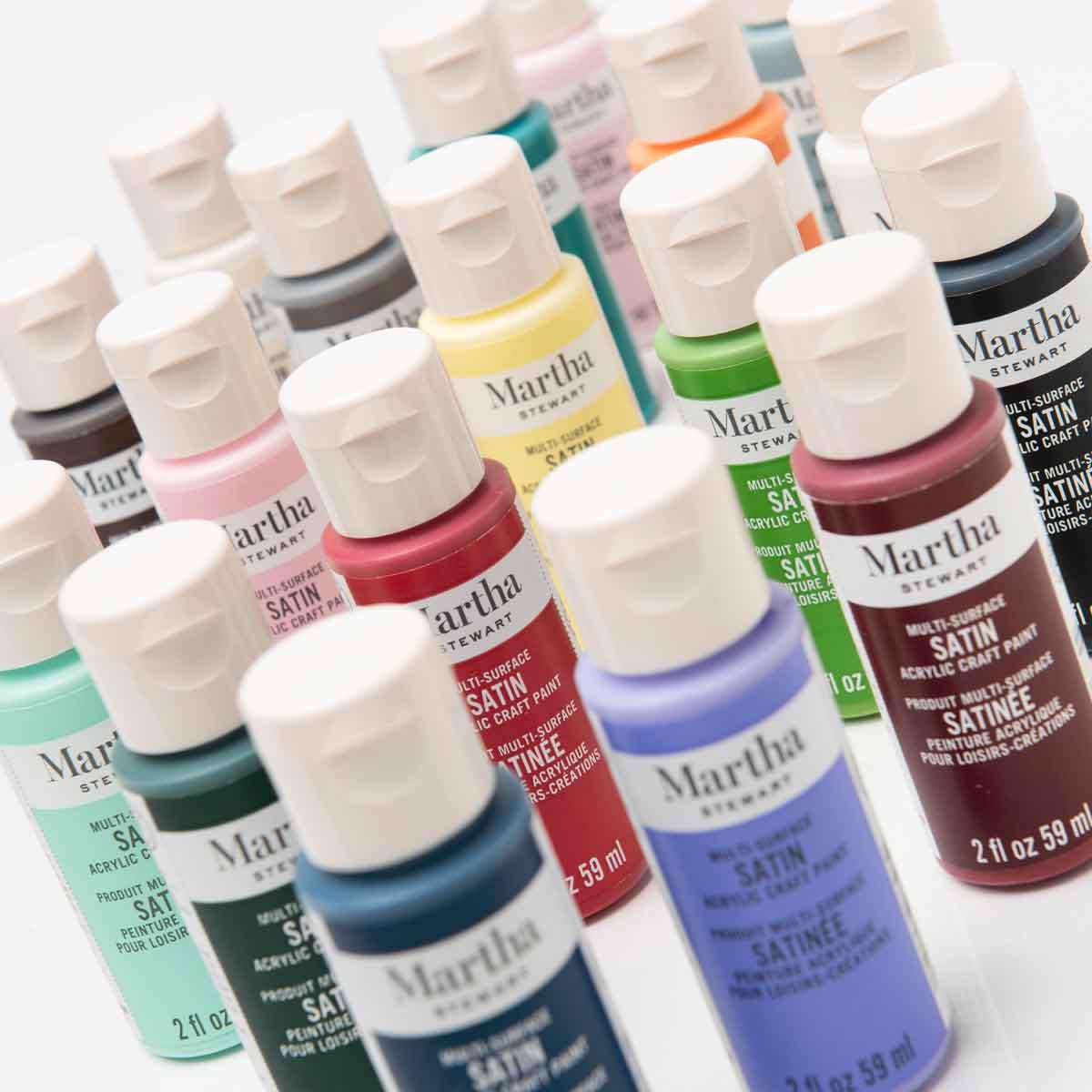 Martha Stewart ® Multi-Surface Satin Acrylic Craft Paint 18-Color Best of Paint Set - MSORIGSTN18A