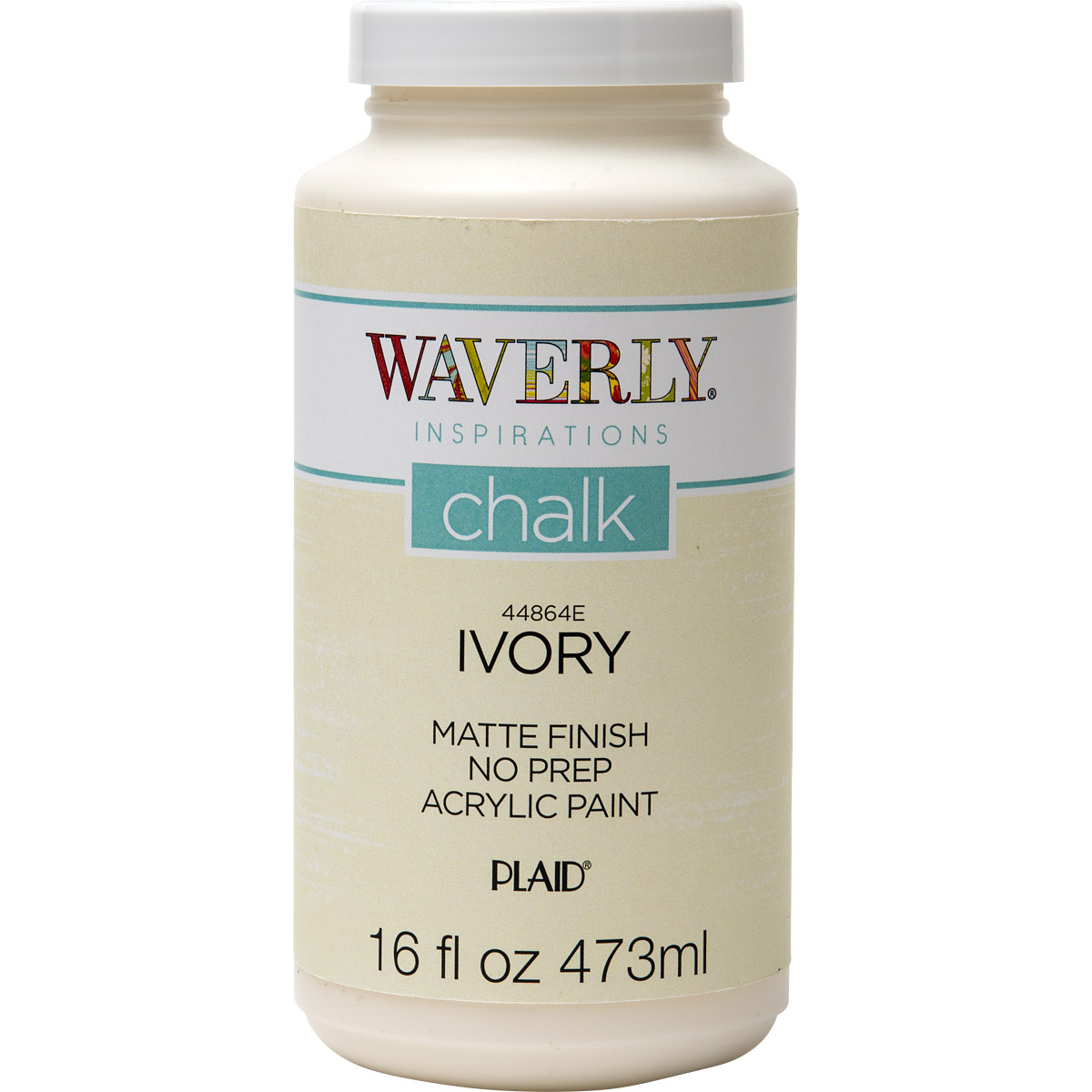 Waverly ® Inspirations Chalk Finish Acrylic Paint - Ivory, 16 oz. - 44864E