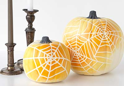 Ombre Spiderweb Pumpkins