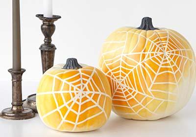 Ombre Spiderweb Pumpkins