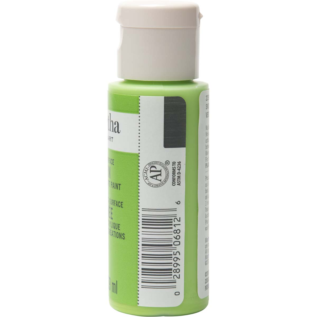 Martha Stewart ® Multi-Surface Satin Acrylic Craft Paint - Snow Pea, 2 oz.