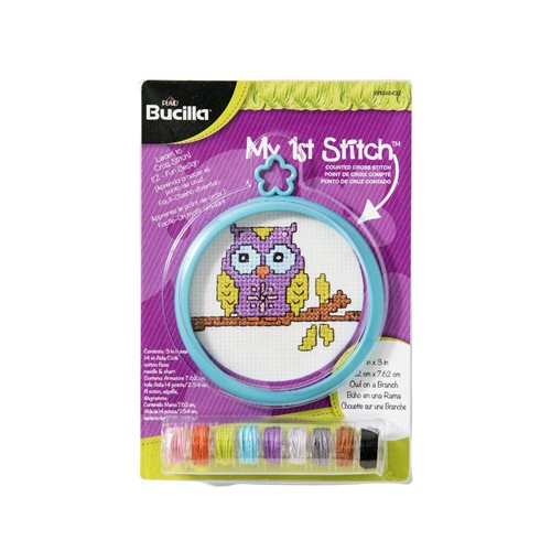Bucilla ® My 1st Stitch™ - Counted Cross Stitch Kits - Mini - Owl on a Branch - WM46432