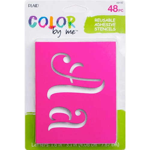 Plaid ® Color By Me™ Adhesive Stencils - Fantasy Letters