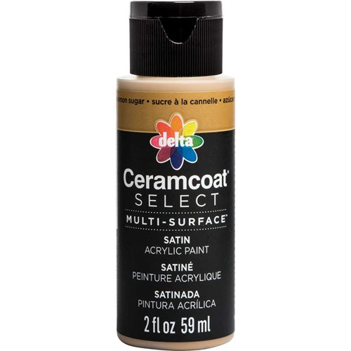 Delta Ceramcoat ® Select Multi-Surface Acrylic Paint - Satin - Cinnamon Sugar, 2 oz.