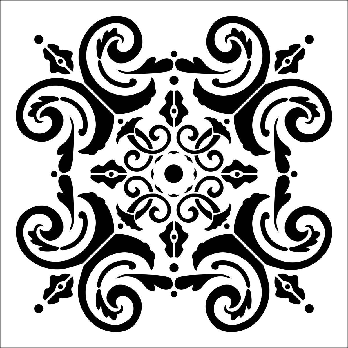 FolkArt ® Painting Stencils - Large - Fresh Elegance