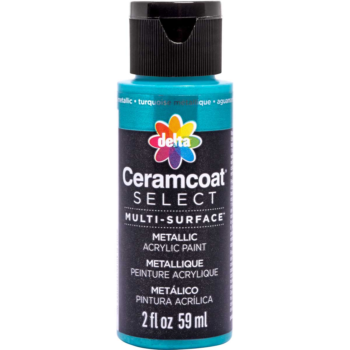 Delta Ceramcoat ® Select Multi-Surface Acrylic Paint - Metallic - Aqua, 2 oz. - 04103