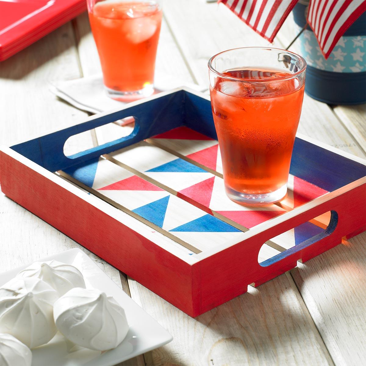 Patriotic Wooden Tray