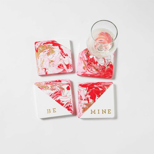 Creative DIY Valentine's Day Gift - Heart Coasters