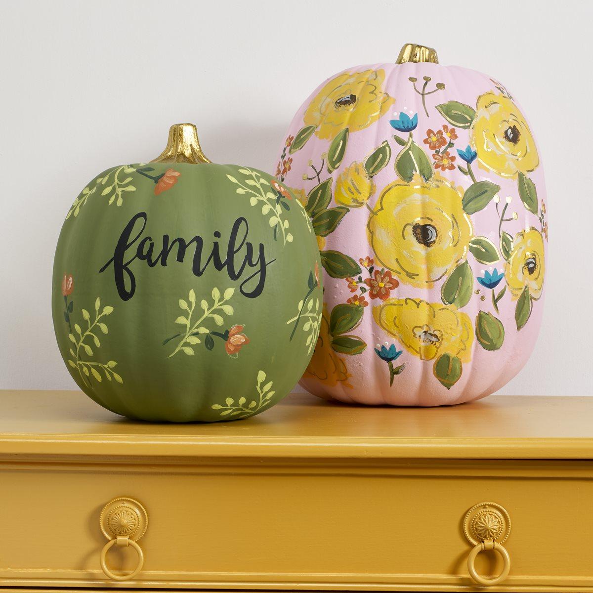 FolkArt Fresh Floral Pumpkins