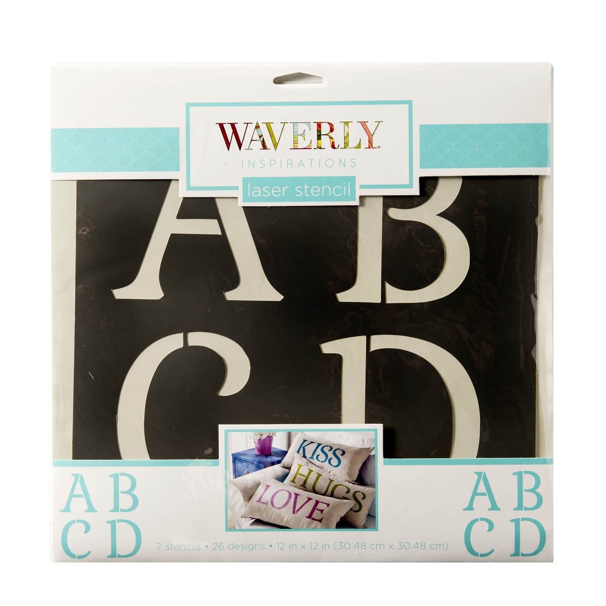 Waverly ® Inspirations Stencils - Decor - Alpha Serif, 12