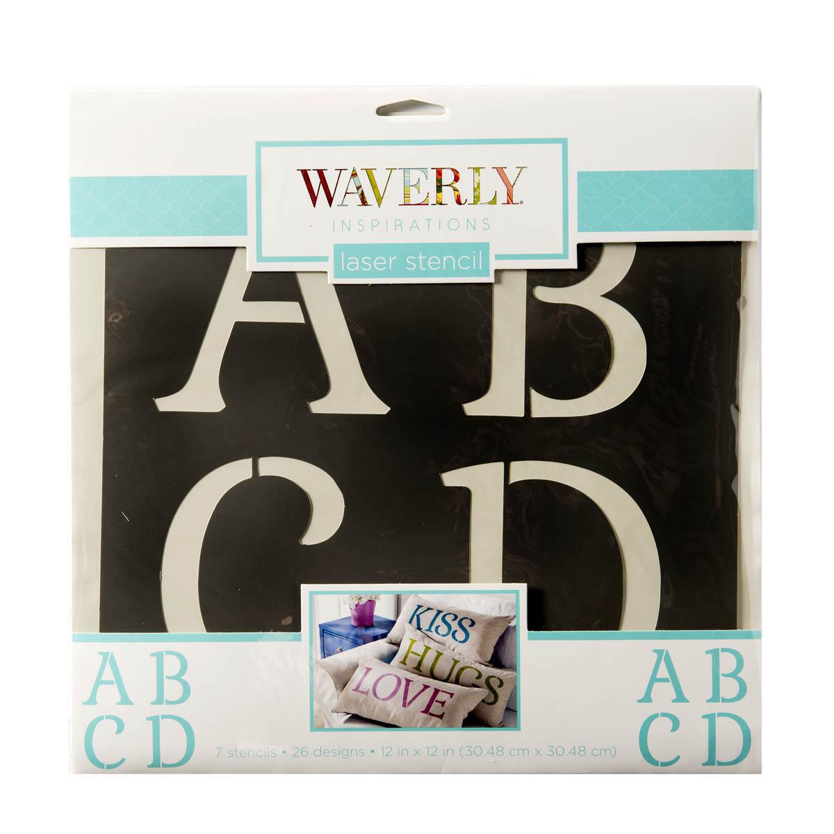 Waverly ® Inspirations Stencils - Decor - Alpha Serif, 12
