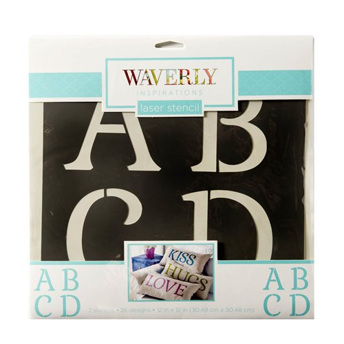 "Waverly ® Inspirations Stencils - Decor - Alpha Serif, 12"" x 12"""