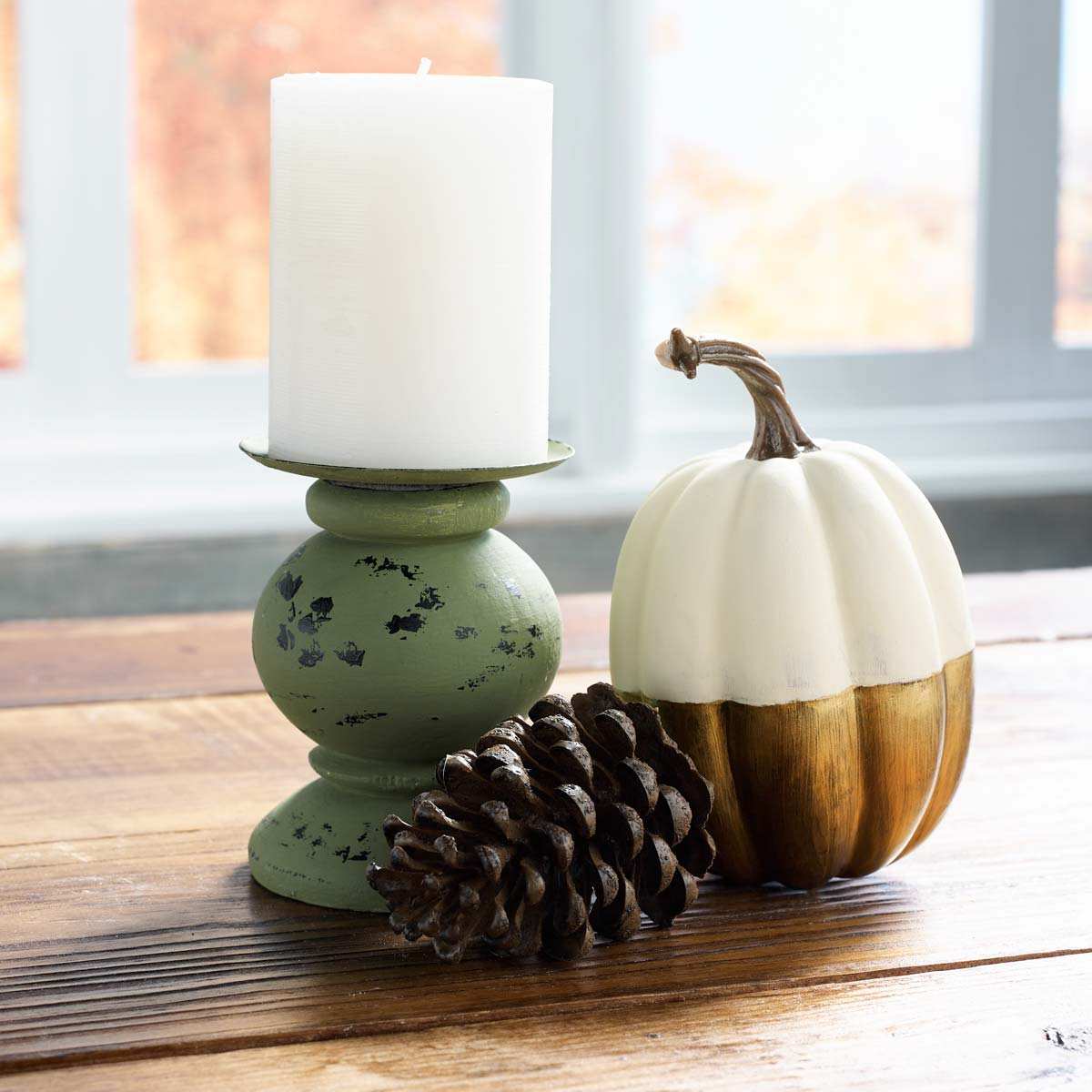 Distressed Candleholder DIY