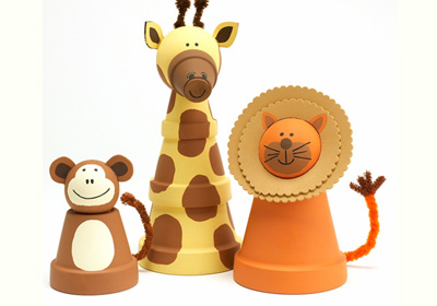 Clay Pot Animals