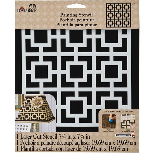 FolkArt ® Painting Stencils - Large - Square Revival