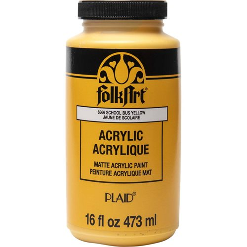 FolkArt ® Acrylic Colors - School Bus Yellow, 16 oz. - 6366