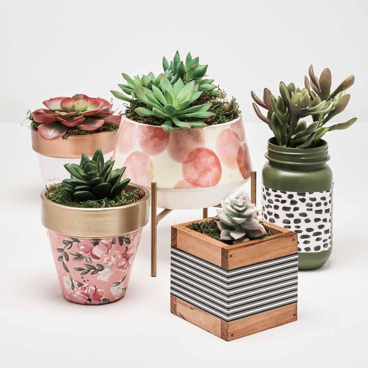 Mod Podge Planters
