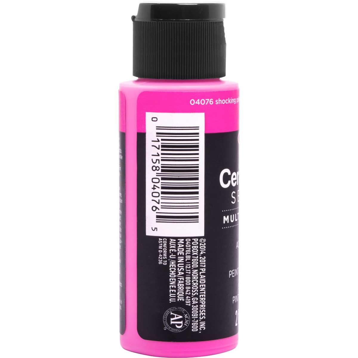 Delta Ceramcoat ® Select Multi-Surface Acrylic Paint - Satin - Shocking Pink, 2 oz. - 04076
