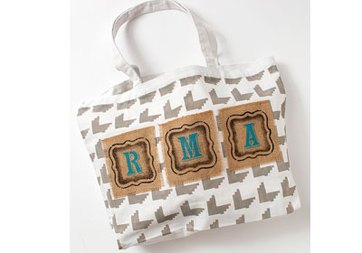 Personalized White Canvas Tote Bag