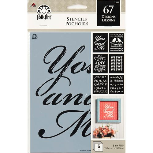 FolkArt ® Craft Stencils - Value Packs - Romance - 71969