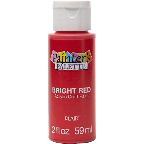 Plaid ® Painter's Palette™ Acrylic Paint - Bright Red, 2 oz.