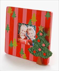 Christmas Tree striped frame