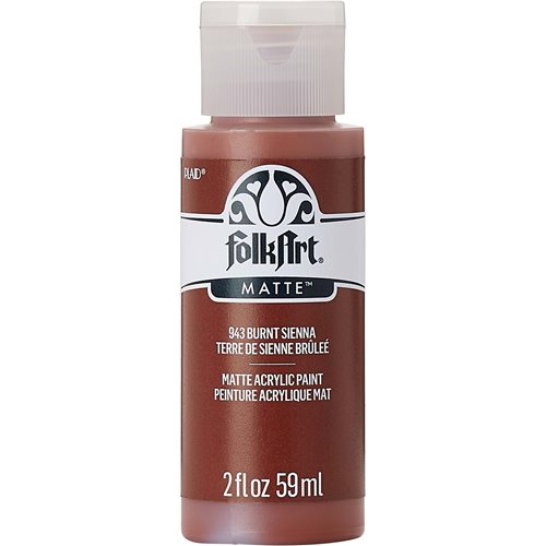 FolkArt ® Acrylic Colors - Burnt Sienna, 2 oz. - 943