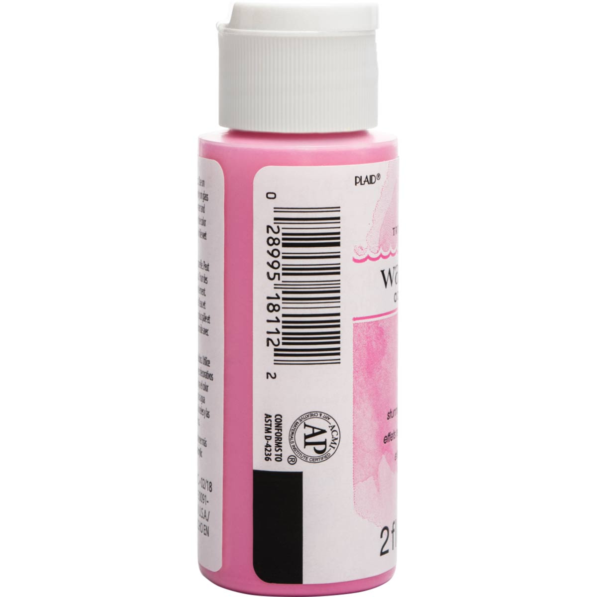 FolkArt ® Watercolor Acrylic Paint™ - Pink, 2 oz. - 18112