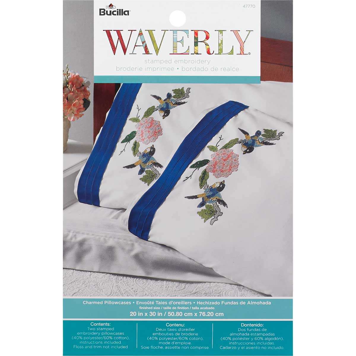 Bucilla ® Waverly ® Charmed Collection Stamped Pillowcase Pair
