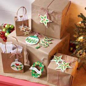 DIY Cardboard Gift Tag Ornaments