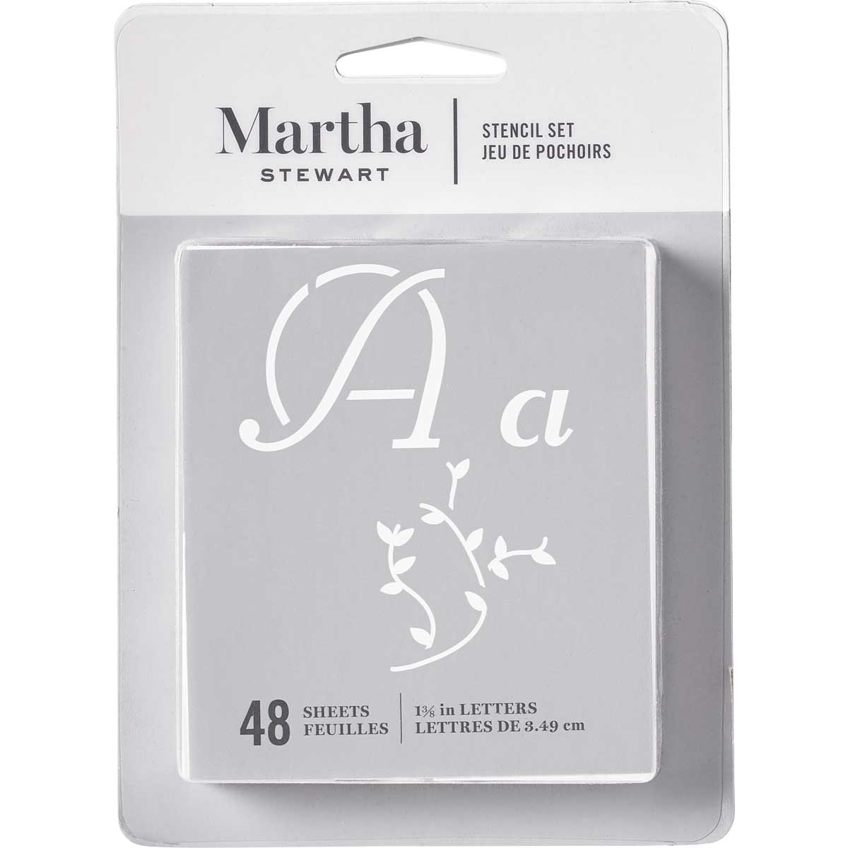 Martha Stewart ® Paper Stencil Set - Italic Flourish Alphabet, 48 pc. - 32276