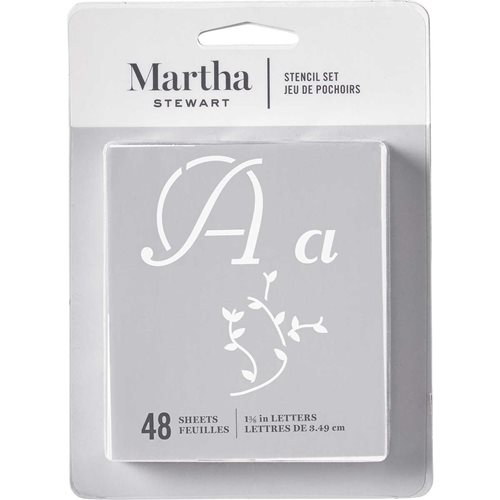 Martha Stewart® Italic Flourish Alphabet  Stencil Set 48pc