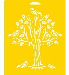 Delta Stencil Mania™ - Tree with Birds, 7