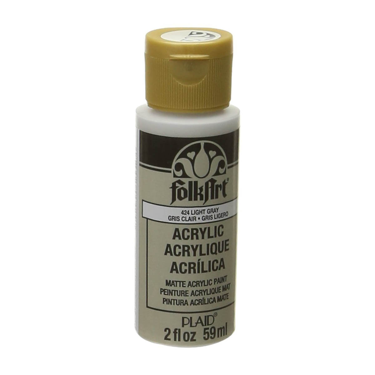 FolkArt ® Acrylic Colors - Light Gray, 2 oz. - 424