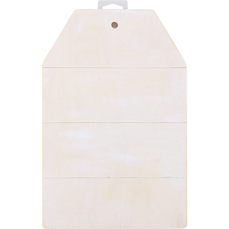 Plaid ® Wood Surfaces - Sign Tag Whitewashed, 11-3/4