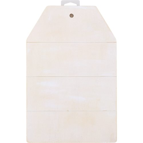 "Plaid ® Wood Surfaces - Sign Tag Whitewashed, 11-3/4"" x 7-3/4"" - 44937"