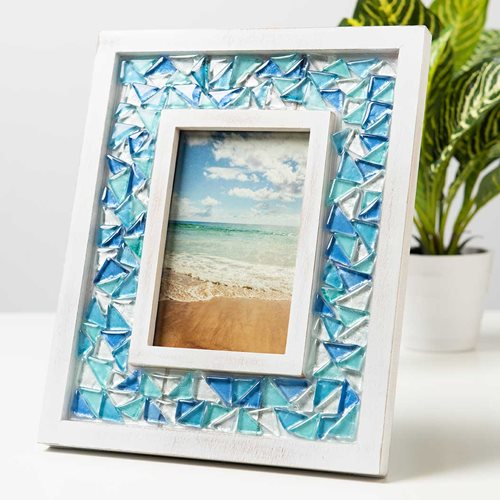DIY Mosaic Picture Frame