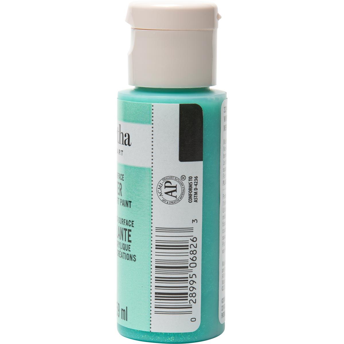 Martha Stewart ® Multi-Surface Glitter Acrylic Craft Paint - Wintermint, 2 oz. - 32147CA