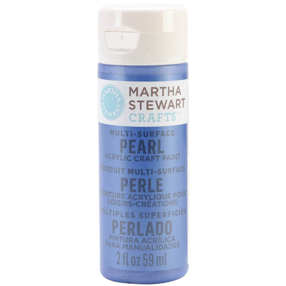 Martha Stewart® 2oz Multi-Surface Pearl Acrylic Craft Paint - Cornflower