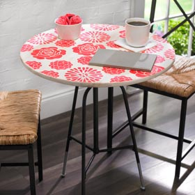 Stenciled Occasional Table